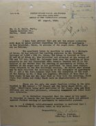 Letter from Alan D. Stahler to S. W. Heald, August 22, 1930