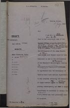 Draft of Letter from H. J. Read to Secretary, War Office, re: Repatriation of British West Indian Soldiers, July 1, 1919