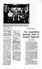 Collection of articles about fire regulations and fire prevention, June 28-29, 1973