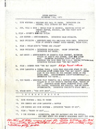 Agenda for SPREE Meeting, November 13, 1973