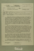 Foreign Service Despatch from AmEmbassy, Tel Aviv re: Border Situation, December 1, 1954