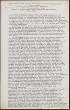 Memorandum on the Liaison Committee of Women's International Organisations by Mrs. V. Williams, Hon. Secretary, for the Attention of the Women's International League of Peace and Freedom, August 1961
