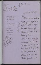 Draft of Letter re: Massacre of Jamaican Labourers at Culebra, October 21, 1885