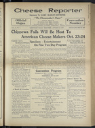 Cheese Reporter, Vol. 54, no. 6, Saturday, October 19, 1929