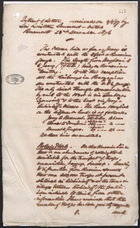 Extract of Letter Received on 12/1/77 by Sir Lintorn Simmons - Dated Bucharest 23rd December 1876
