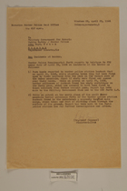 Memo from Dr. Josef Heppner re: Incidents at the Border, April 29, 1946