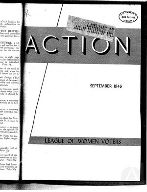 Action, vol. 2 no. 5, September 1946