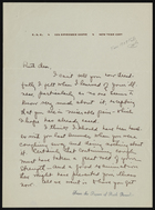Letter from E. to Ruth Benedict, undated