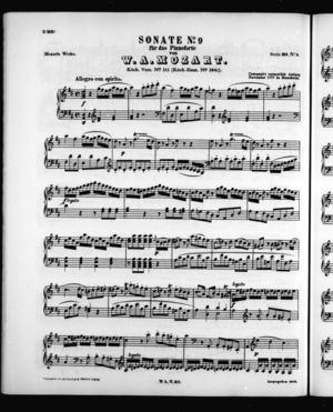 Sonata No. 9 für Pianoforte