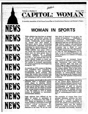 Capitol: Woman, vol. 1 no. 11, March 1974