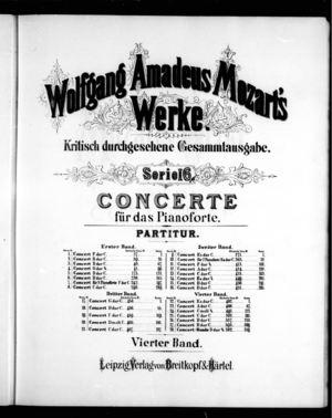 Zweiundzwanzigstes Concert für das Pianoforte, K. 482, E Flat Major