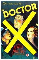 Doctor X (1932): Shooting script
