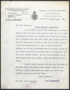 Letter from R. M. Greenwood to Clive Lawrence, July 3, 1924