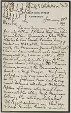 Blue binder containing correspondence, primarily to