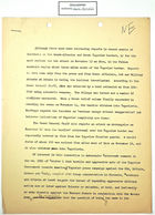 Draft of Memo re: Attack on Skra, November 13, 1946