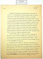 Draft of Memo re: Attack on Skra, November 13, 1946