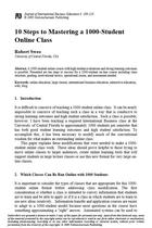 10 Steps to Mastering a 1000-Student Online Class