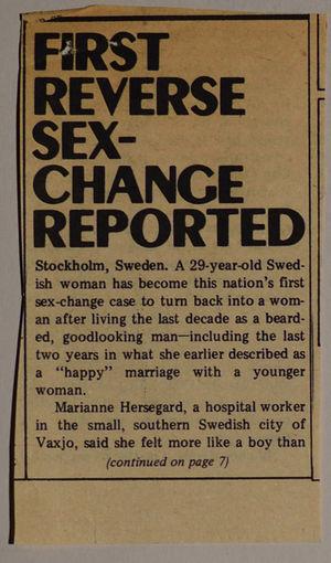Reverse sex change remarkable