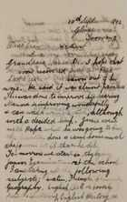 Letter from Robert Lockhart Jack to Robert and Maggie Jack, September 10, 1893