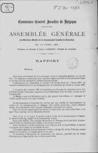 Assemblée Générale des Membres effectifs de la Communauté Israélite de Bruxelles du 14 Avril 1901