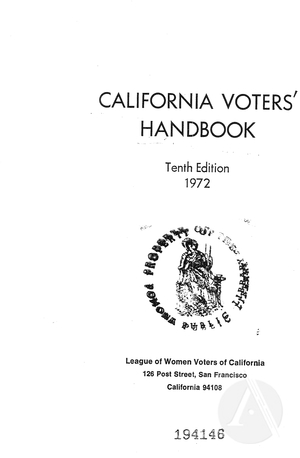 California Voters' Handbook, Tenth Edition