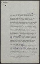 Draft [2nd] of Letter from [Iain Macleod] to Harold MacMillan re: Smog Warning to Public and Issuance of Smog Masks, November, 1953