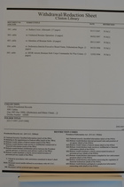 Clinton Library Withdrawal/Redaction Sheet from NSC Cables Jan 1997-Dec 1998, Box 520000, Folder 3/17/1997-12/07/1998