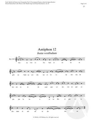 Antiphon 12:  Iuxta vestibulum