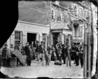 American Civvil War (1861-1865): Maimed soldiers and others before office of U.S. Christian Commission, april 1865, Washington