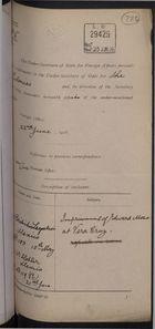 Correspondence re: Imprisonment of Edward Moss at Vera Cruz, Mexico, 1916