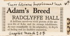 Adam's Breed by Radclyffe Hall