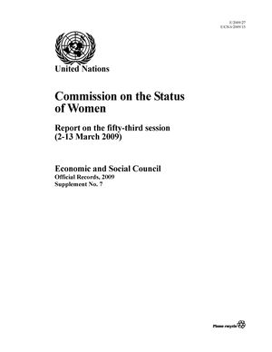Report on the 53rd Session, New York, 2-13 March 2009