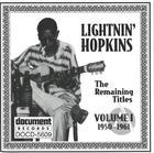 Lightnin' Hopkins Vol. 1 (1950-1961)