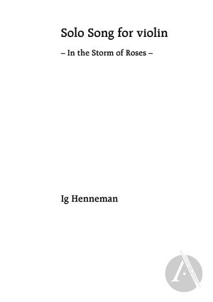 Solo Song for Violin: In the Storm of Roses   Alexander Street, a