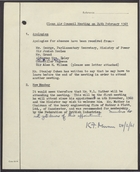 Clean Air Council Meeting on 24th February 1961