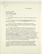 Letter from Charles O'Neill to John T. Lassiter re: Publications Request, March 31, 1943