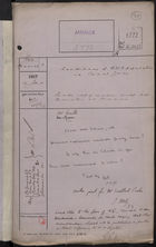 Correspondence Cover Sheet re: Conditions of B.W.I. Population in Canal Zone, Jan. 13, 1917