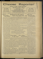 Cheese Reporter, Vol. 57, no. 8, October 31, 1932