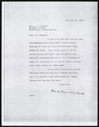 Copy of Letter from Ruth Benedict to Dr. A.M. Tozzer, October 30, 1936