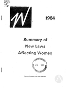 1984 Summary of New Laws Affecting Women