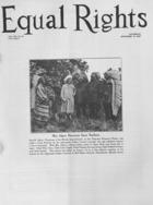 Equal Rights, Vol. 14, no. 31, September 10, 1927