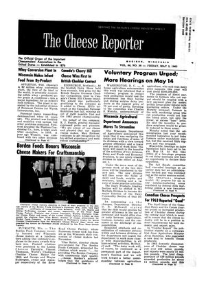 The Cheese Reporter, Vol. 86, No. 36, Friday, May 3, 1963