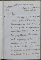 Copy of Letter from E. Eyre to F. Seymour, re: Legality of Immigration from U.S. (Union) to British West Indies, October 24, 1862