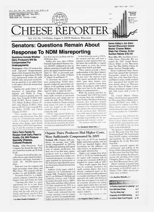 Cheese Reporter, Vol. 132, No. 5, Friday, August 3, 2007