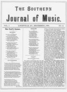 The Southern Journal of Music,  Vol. 1, no. 14, December 5, 1868