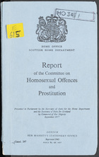 Report of the Committee On Homosexual Offences And Prostitution