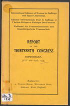 Report of the 13th Congress, IAW
