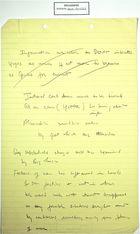 Handwritten Notes re: Yugoslavia, undated