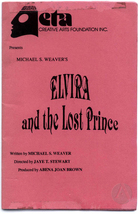 Playbill for Elvira and the Lost Prince by Afaa Michael Weaver, produced by ETA Creative Arts Foundation, Inc., December 2, 1993-January 9, 1994