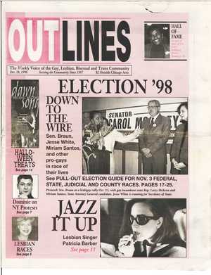 OUTLINES The Weekly Voice of the Gay, Lesbian, Bisexual and Trans Community Oct. 28, 1998 Serving the Community Since 1987